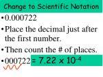 change to scientific notation3