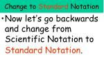 change to standard notation