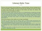 literary style tone