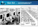 gen ed conclusions