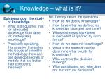 knowledge what is it