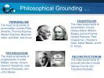 philosophical grounding