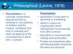 philosophical levine 1978