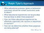ralph tyler s approach