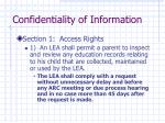 confidentiality of information