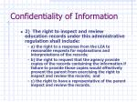 confidentiality of information1