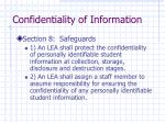 confidentiality of information11