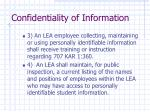 confidentiality of information12