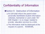 confidentiality of information13
