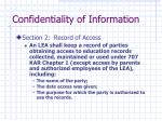 confidentiality of information3