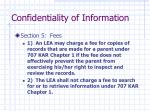 confidentiality of information6