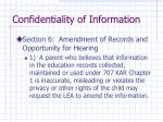 confidentiality of information7