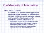 confidentiality of information9
