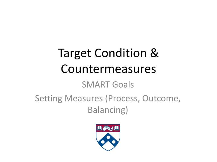 target condition countermeasures n.