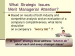 what strategic issues merit managerial attention