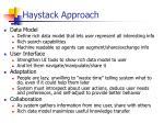 haystack approach