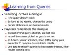 learning from queries