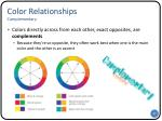 color r elationships complementary