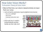 how color vision works trichromatic theory of color vision1