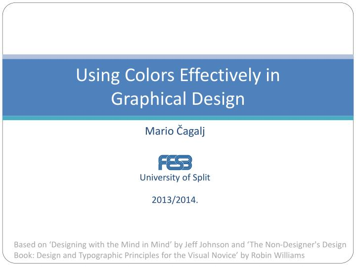using colors effectively in graphical design n.