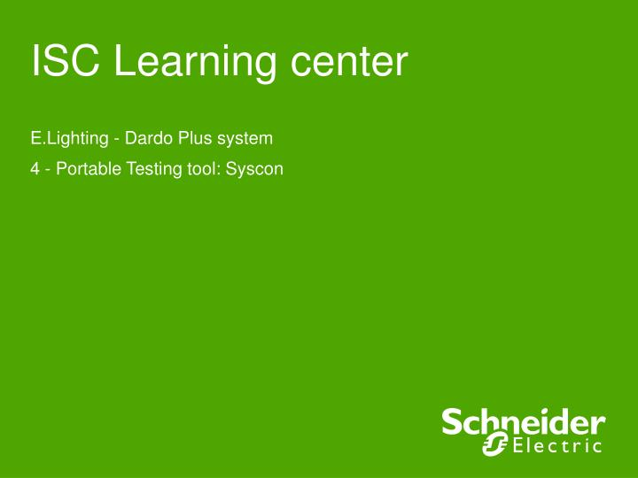 isc learning center n.