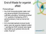 end of waste for organisk affald8