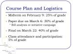 course plan and logistics1