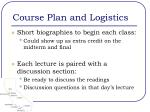 course plan and logistics3