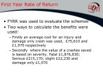 first year rate of return