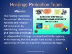 holdings protection team
