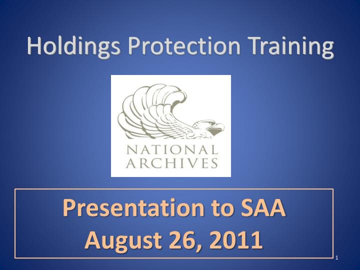 holdings protection training n.