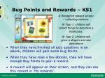 bug points and rewards ks1