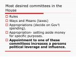 most desired committees in the house
