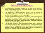 behaviorism vs innatism