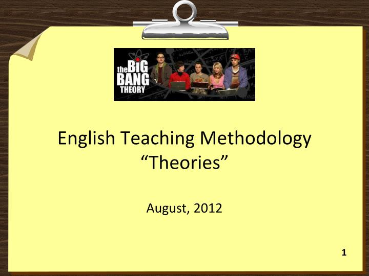 english teaching methodology theories n.