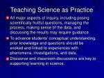 teaching science as practice1