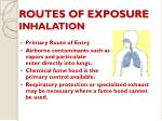 routes of exposure inhalation