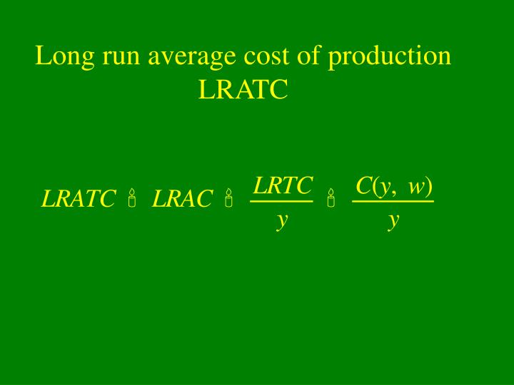 Long run average cost of production