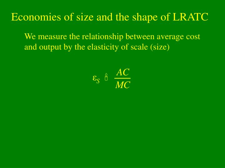 Economies of size and the shape of LRATC