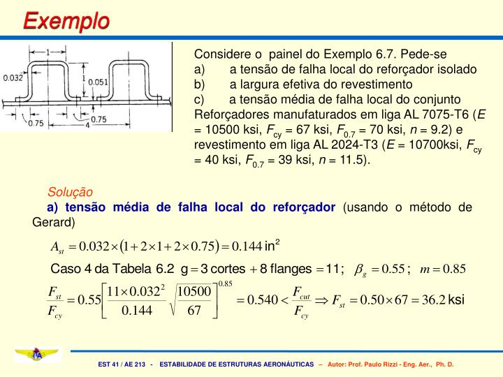 Considere o  painel do Exemplo 6.7. Pede-se