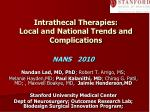 intrathecal therapies local and national trends and complications