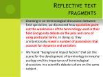 reflective text fragments