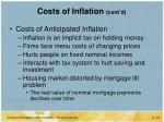 costs of inflation cont d
