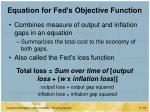 equation for fed s objective function