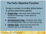 the fed s objective function