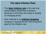the ideal inflation rate