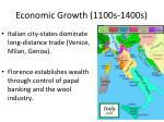 economic growth 1100s 1400s