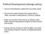 political developments foreign policy1