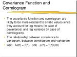 covariance function and correlogram