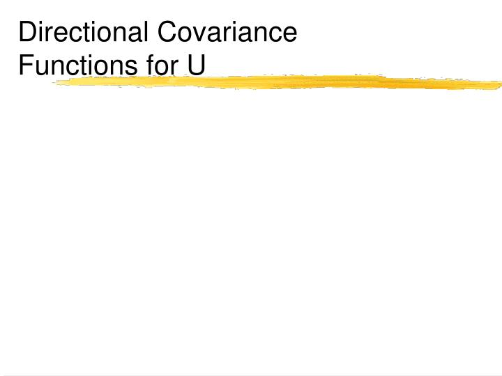Directional Covariance